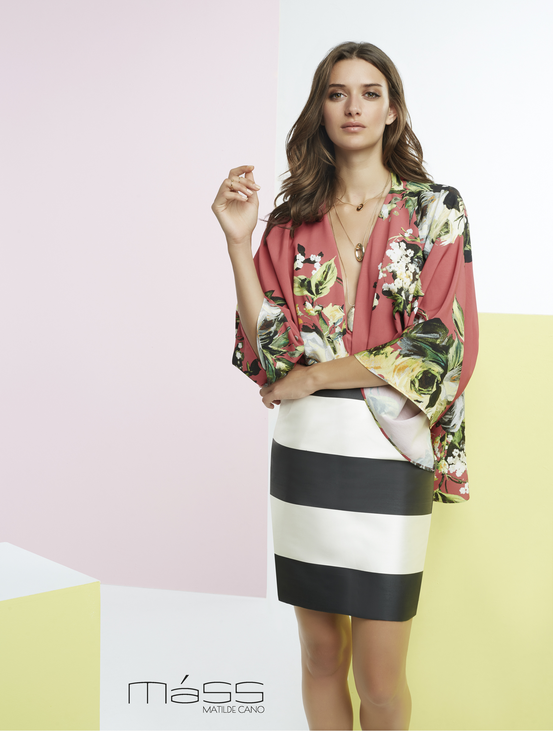 f3d829da8e98 Outfit of printed blouse and striped skirt – MÁSS